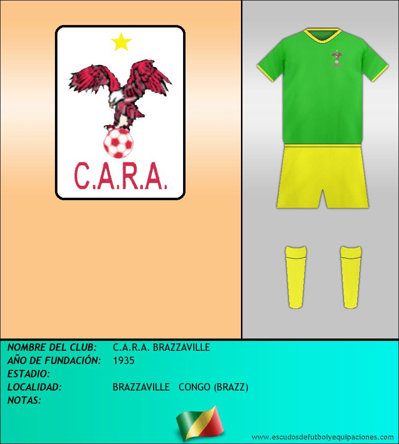 Escudo de C.A.R.A. BRAZZAVILLE
