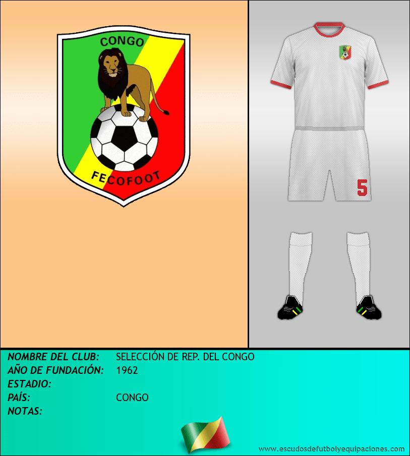 Escudo de SELECCIÓN DE REP. DEL CONGO