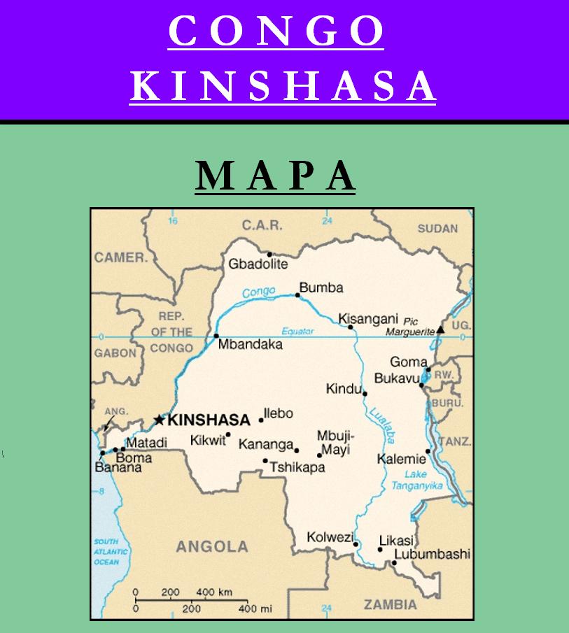 Escudo de MAPA DE REPÚBLICA DEMOCRÁTICA DEL CONGO