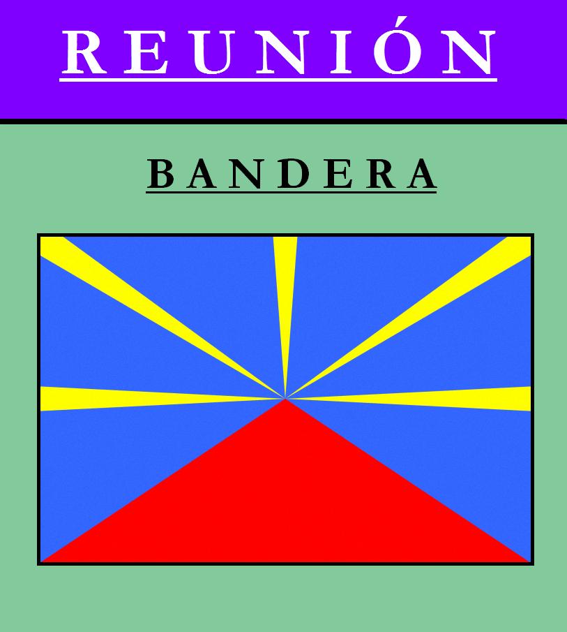 Escudo de BANDERA DE REUNIÓN