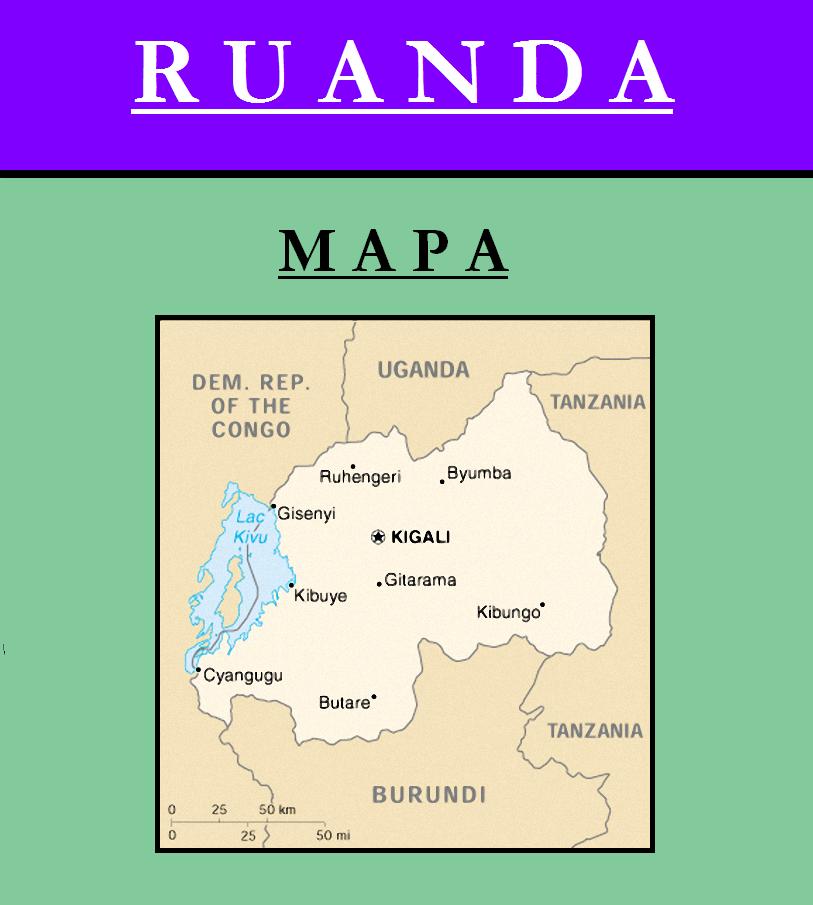 Escudo de MAPA DE RUANDA