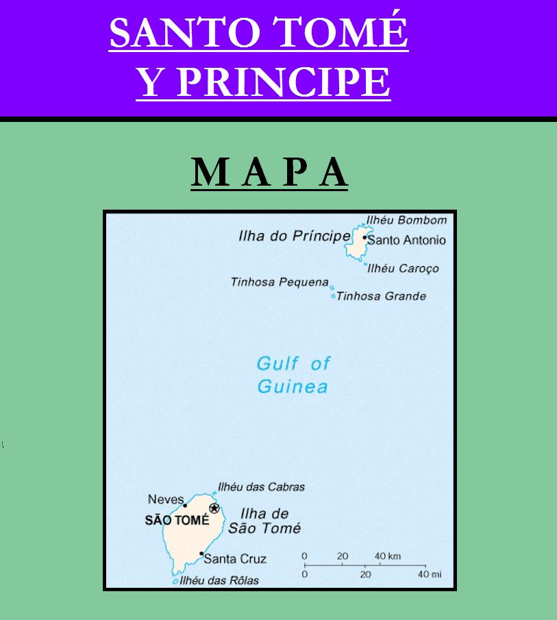 Escudo de MAPA DE SANTO TOMÉ Y PRÍNCIPE