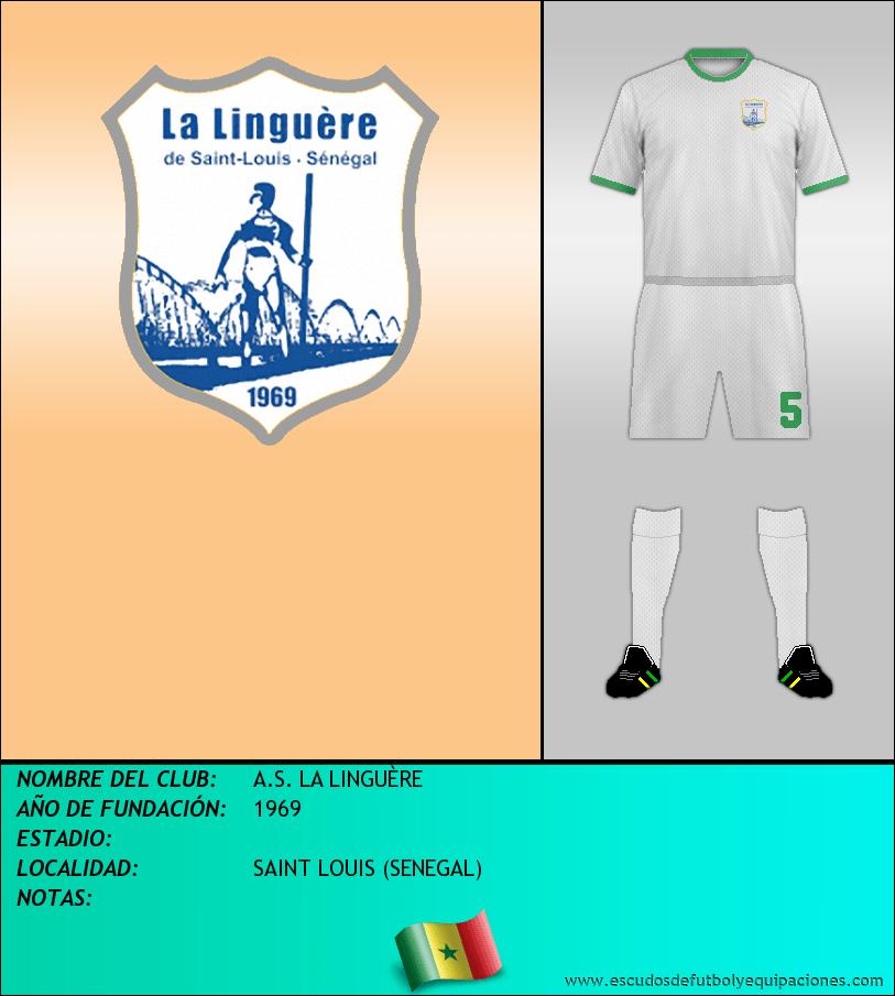 Escudo de A.S. LA LINGUÈRE