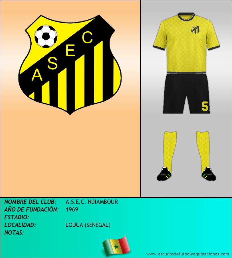 Escudo de A.S.E.C. NDIAMBOUR