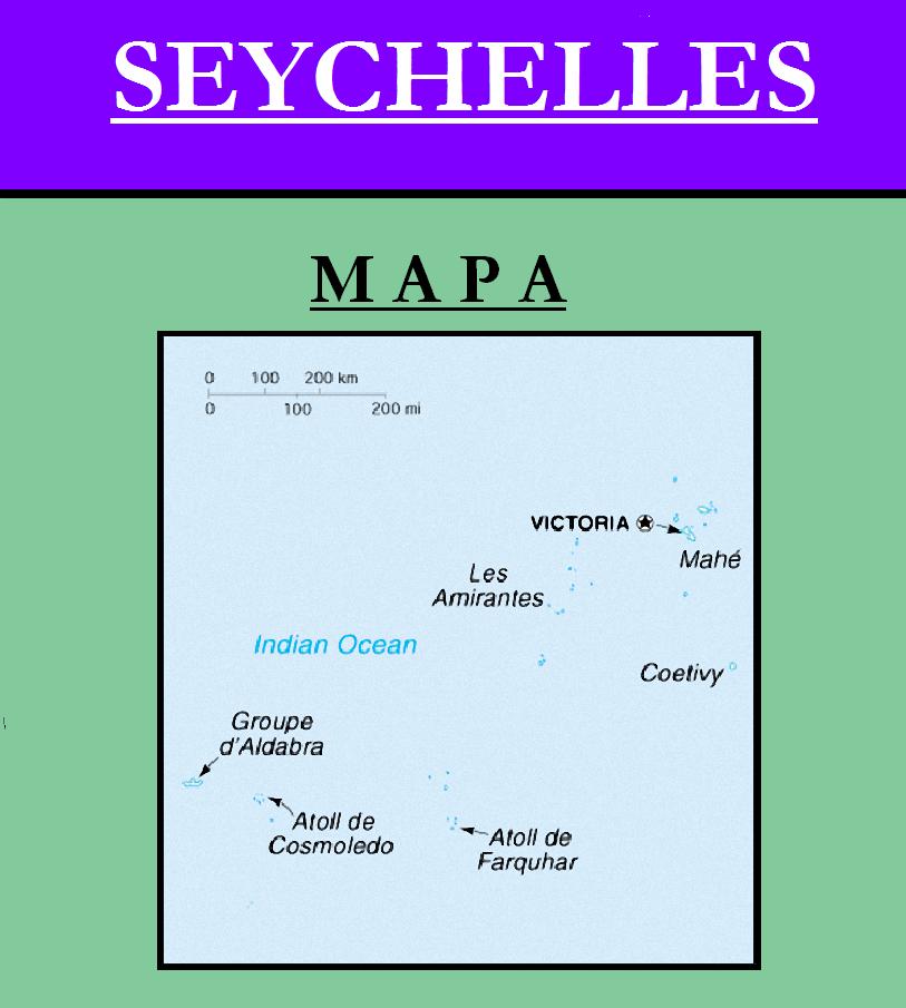 Escudo de MAPA DE SEYCHELLES