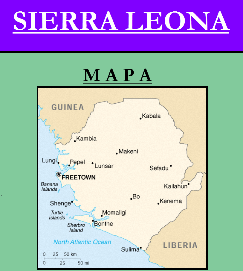 Escudo de MAPA DE SIERRA LEONA