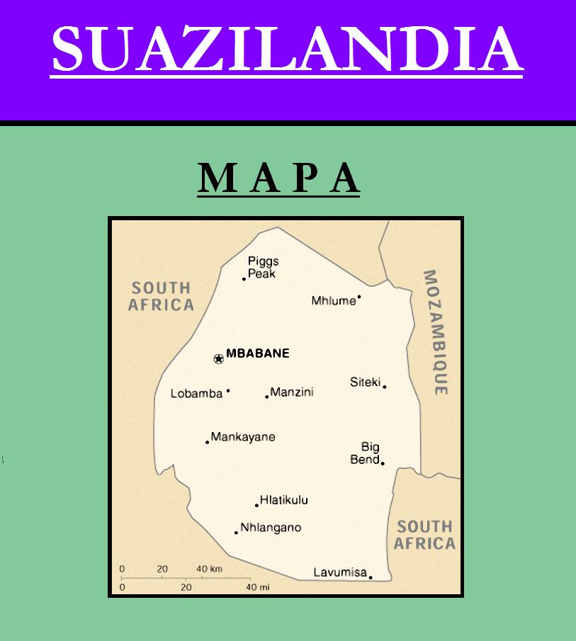Escudo de MAPA DE SUAZILANDIA