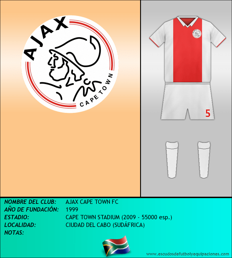 Escudo de AJAX CAPE TOWN FC