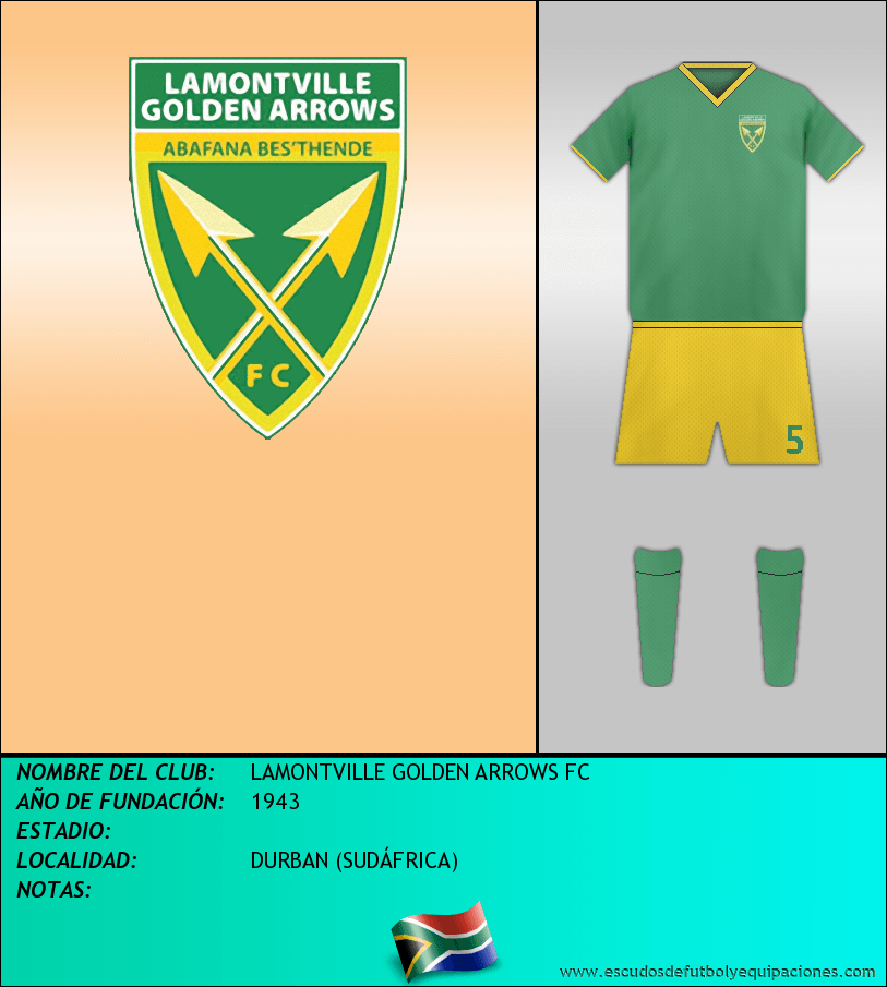 Escudo de LAMONTVILLE GOLDEN ARROWS FC