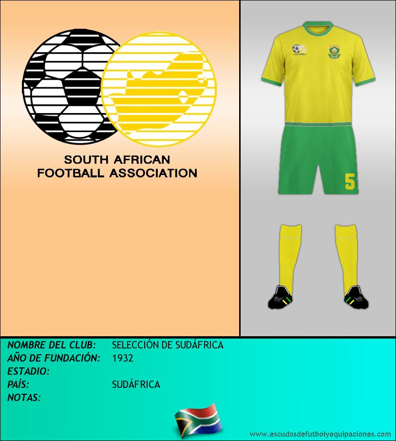 Escudo de SELECCIÓN DE SUDÁFRICA