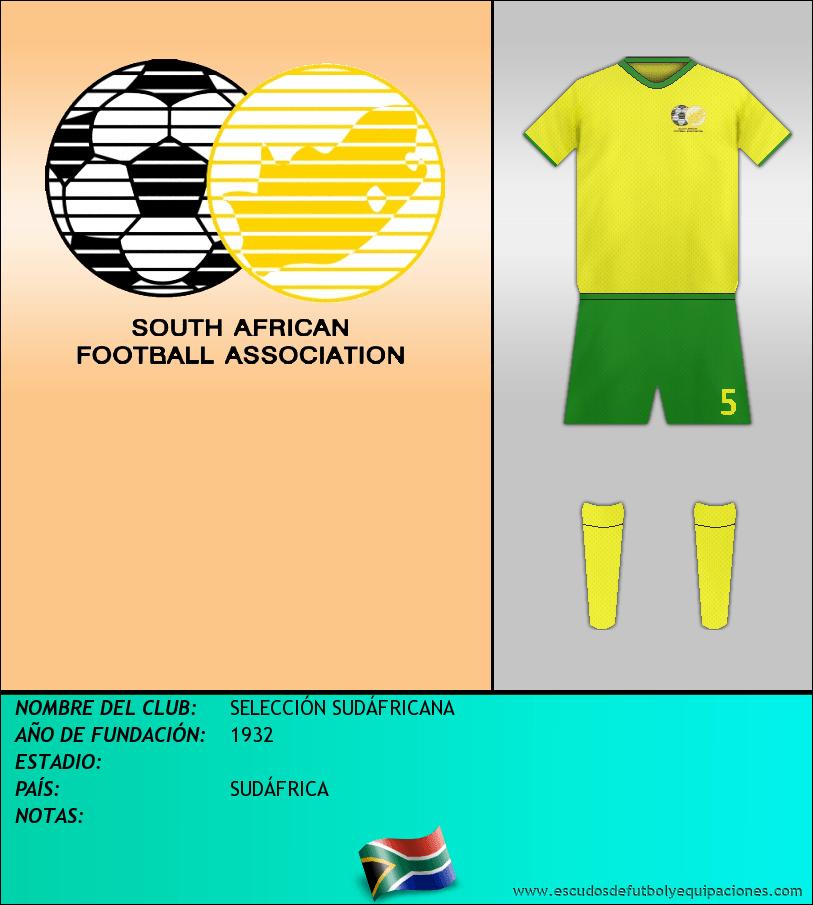 Escudo de SELECCIÓN SUDÁFRICANA