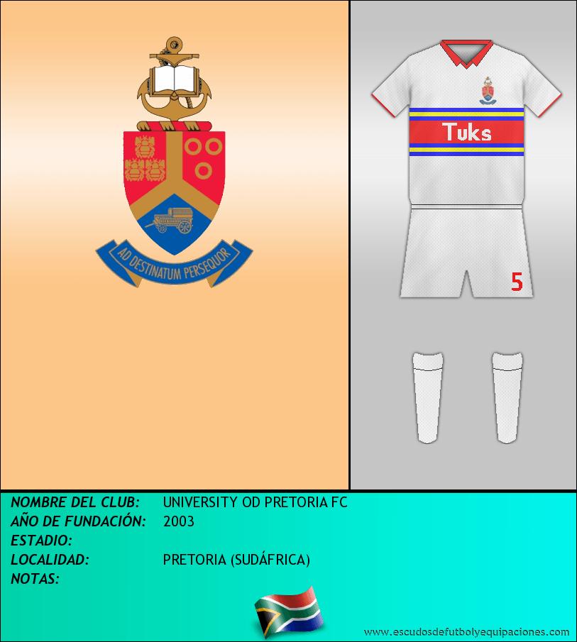 Escudo de UNIVERSITY OD PRETORIA FC