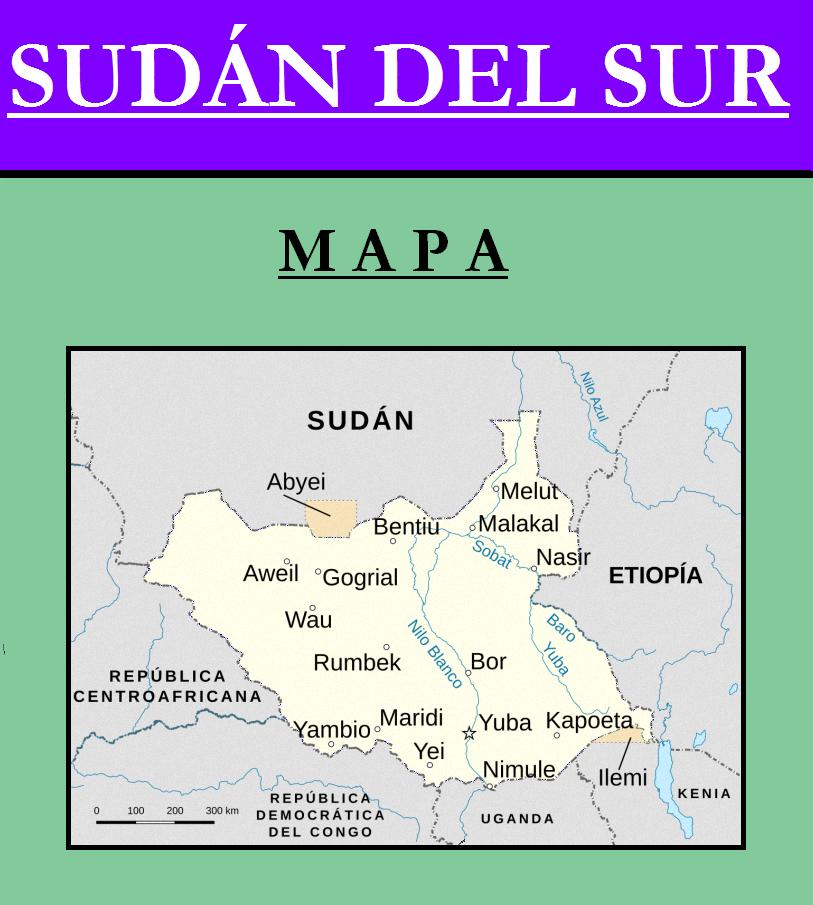Escudo de MAPA DE SUDÁN DEL SUR