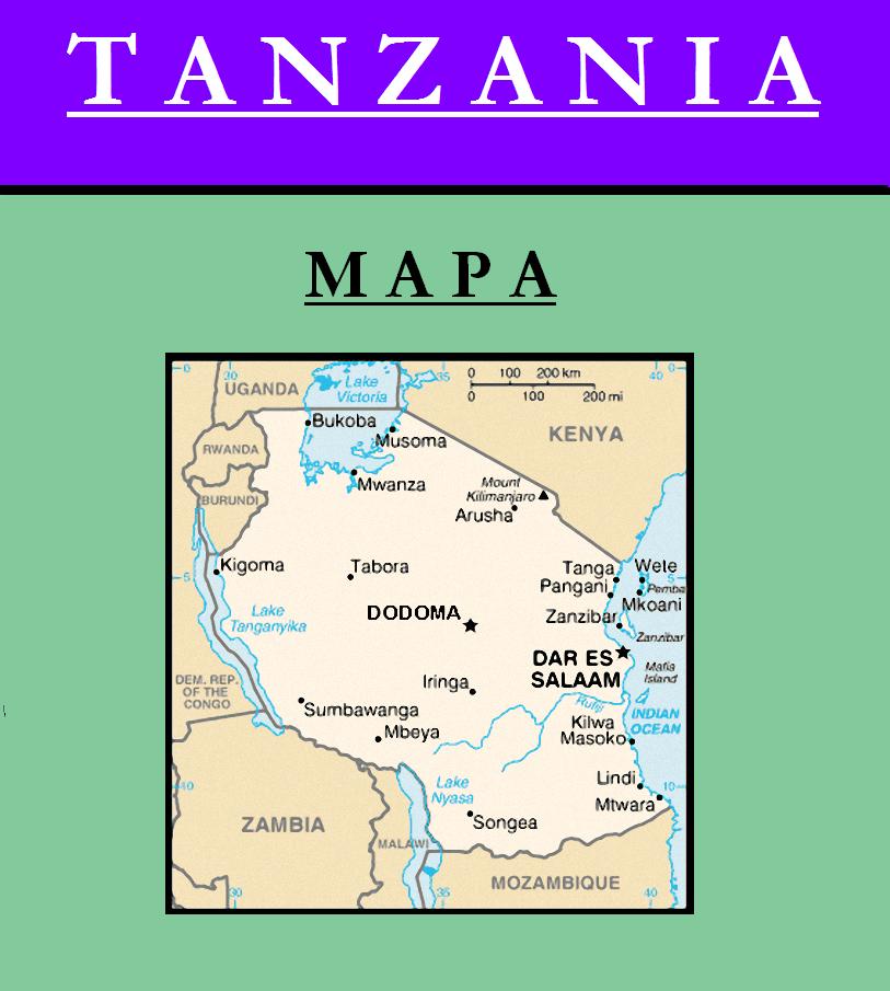Escudo de MAPA DE TANZANIA