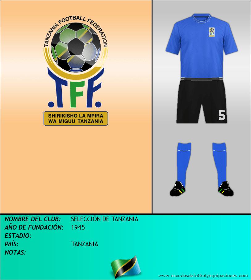 Escudo de SELECCIÓN DE TANZANIA