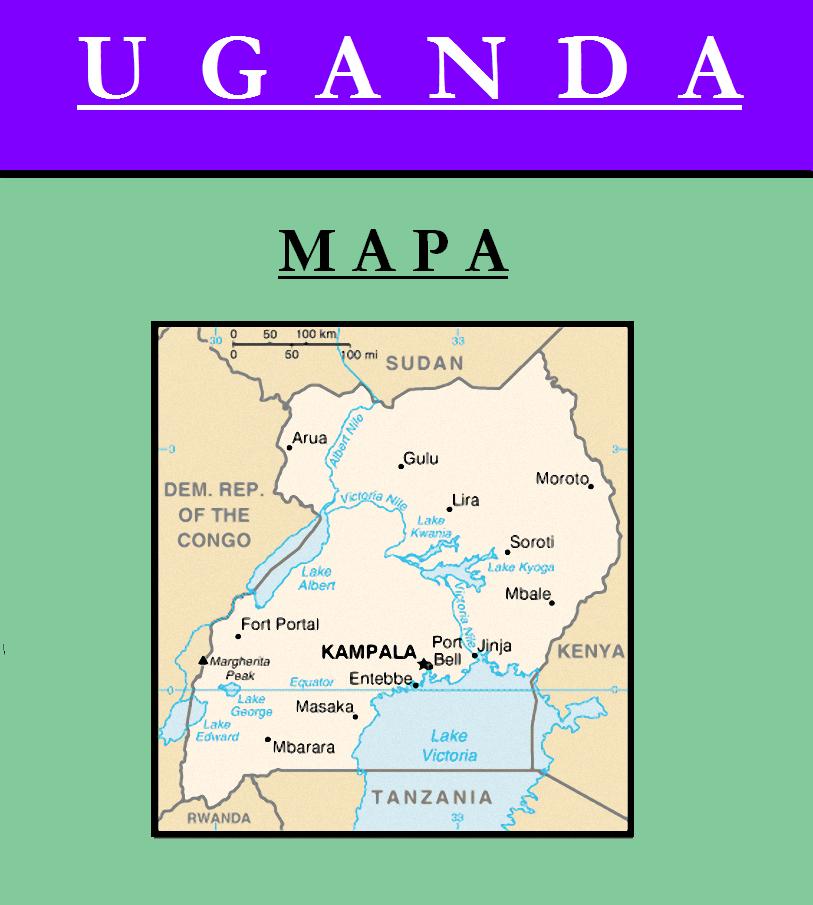 Escudo de MAPA DE UGANDA