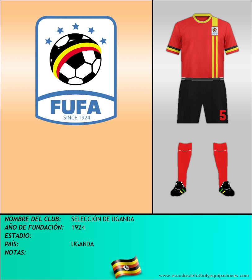 Escudo de SELECCIÓN DE UGANDA