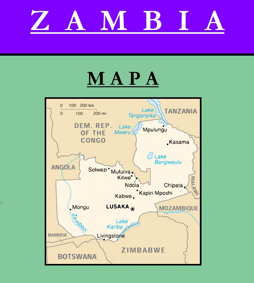 Escudo de MAPA DE ZAMBIA
