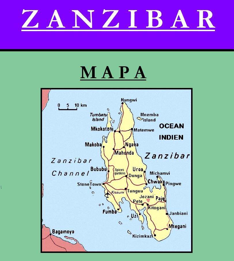 Escudo de MAPA DE ZANZÍBAR