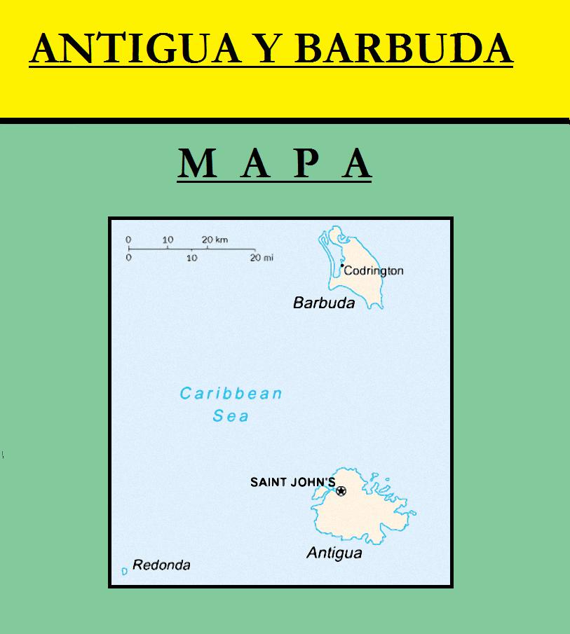 Escudo de MAPA DE ANTIGUA Y BARBUDA