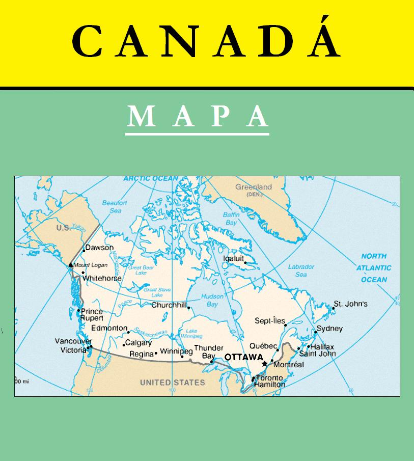 Escudo de MAPA DE CANADÁ