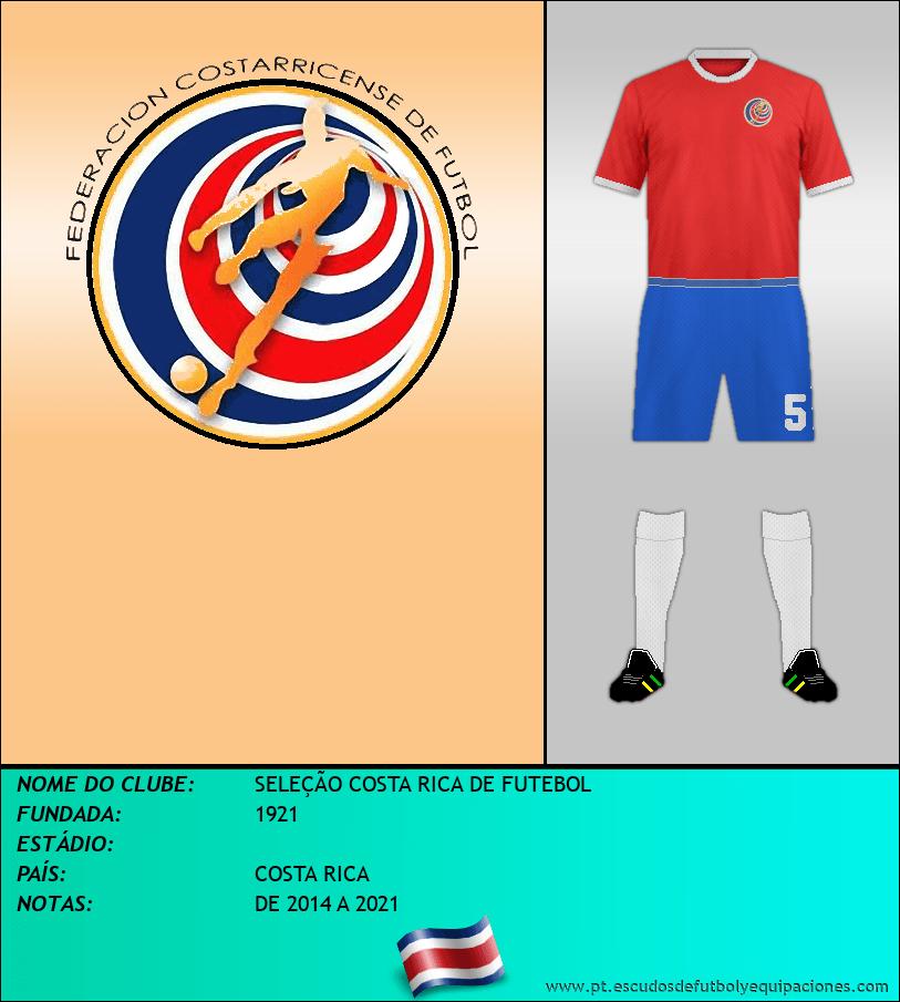 Escudo de SELEÇÃO COSTA RICA DE FUTEBOL