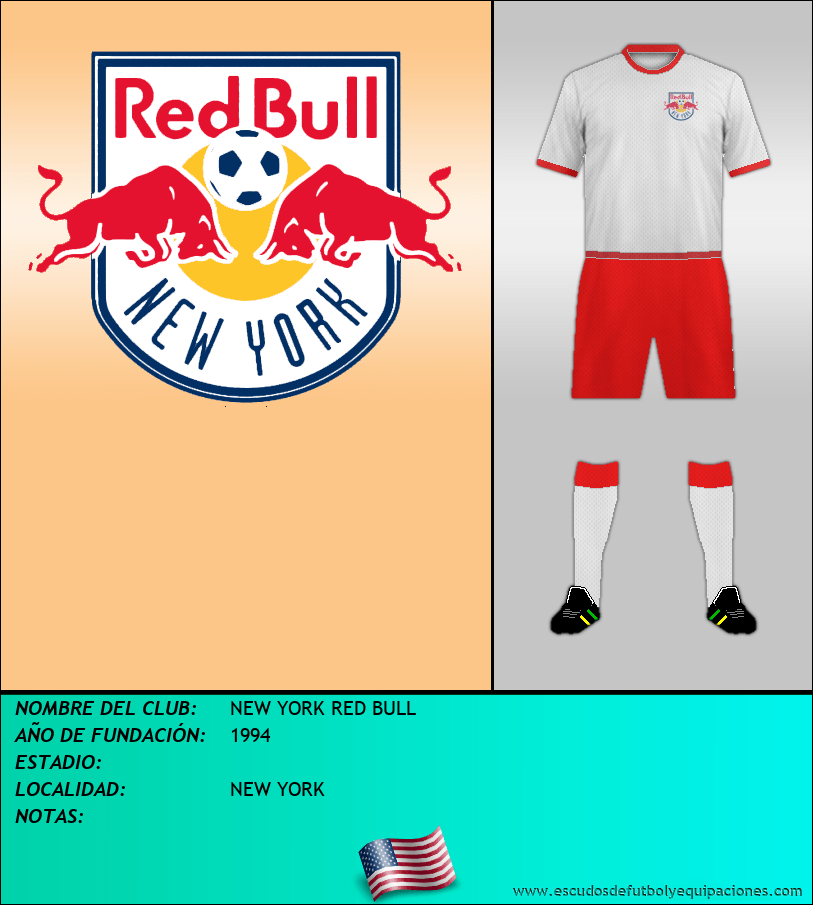 Escudo de NEW YORK RED BULL