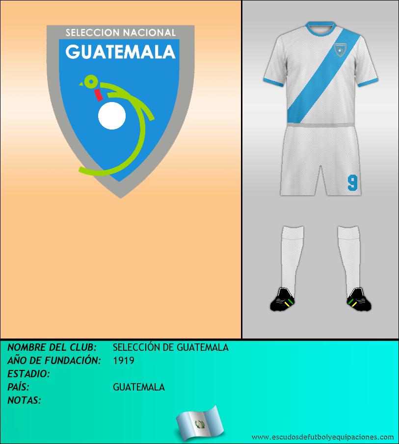 Escudo de SELECCIÓN DE GUATEMALA