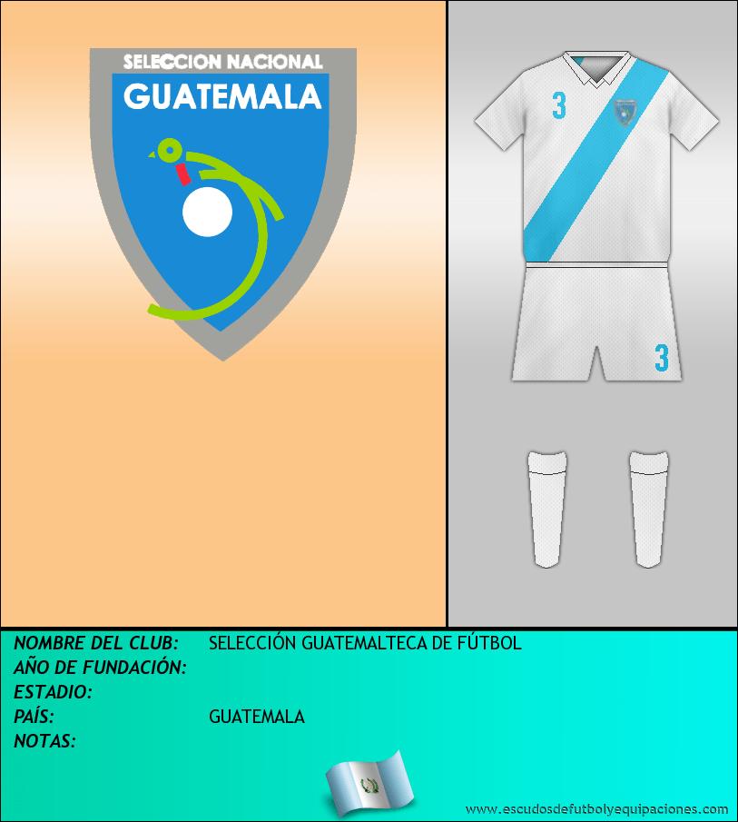 Escudo de SELECCIÓN GUATEMALTECA DE FÚTBOL