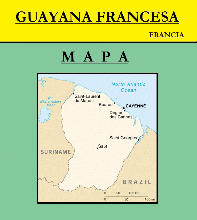 Escudo de MAPA DE GUAYANA FRANCESA