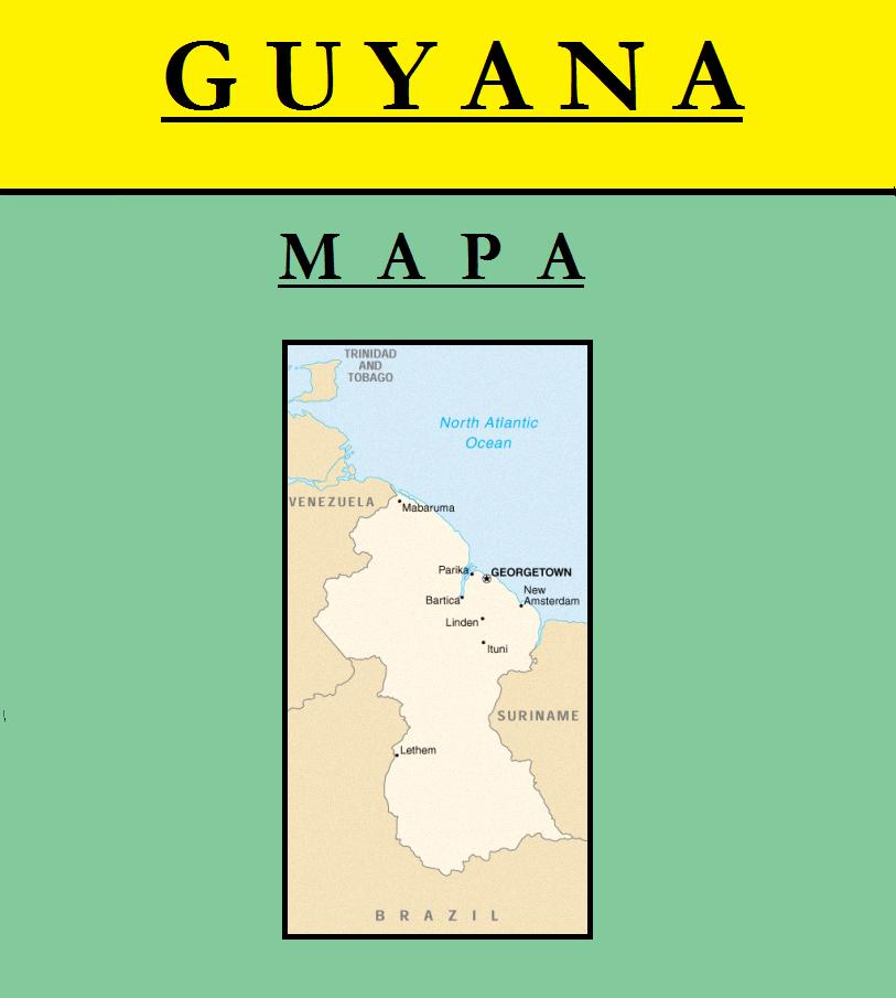 Escudo de MAPA DE GUYANA