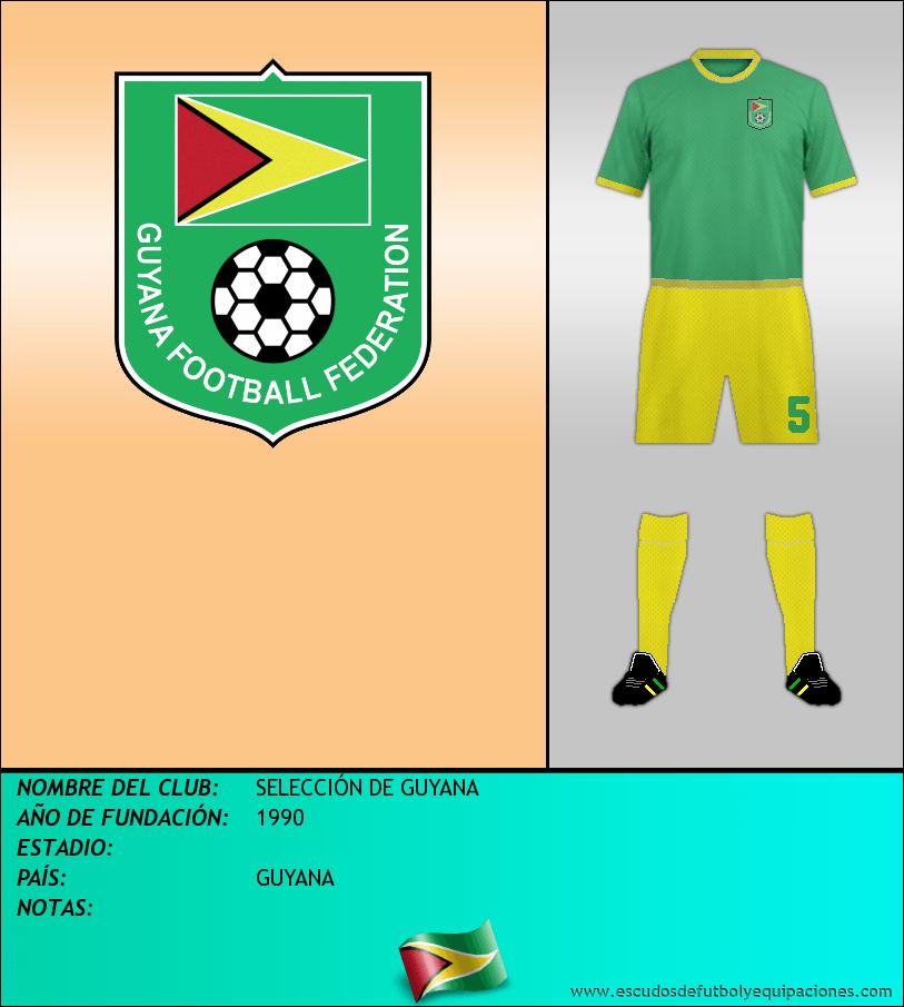 Escudo de SELECCIÓN DE GUYANA