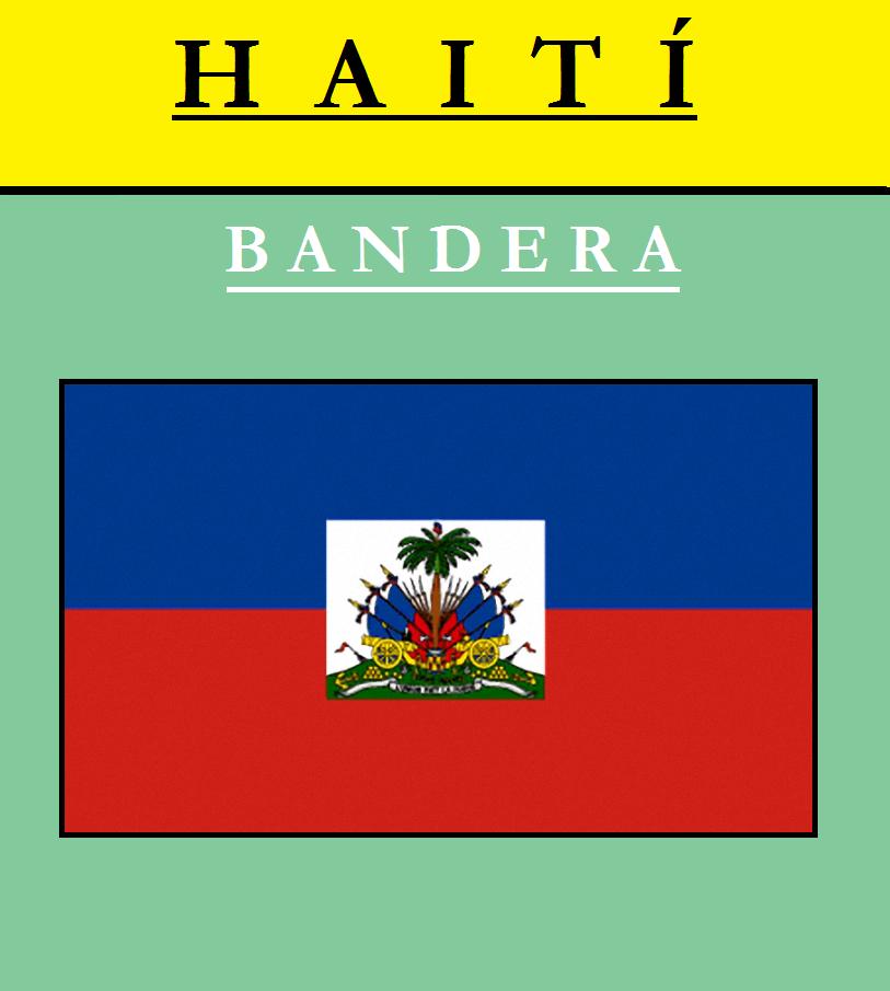 Escudo de BANDERA DE HAITÍ