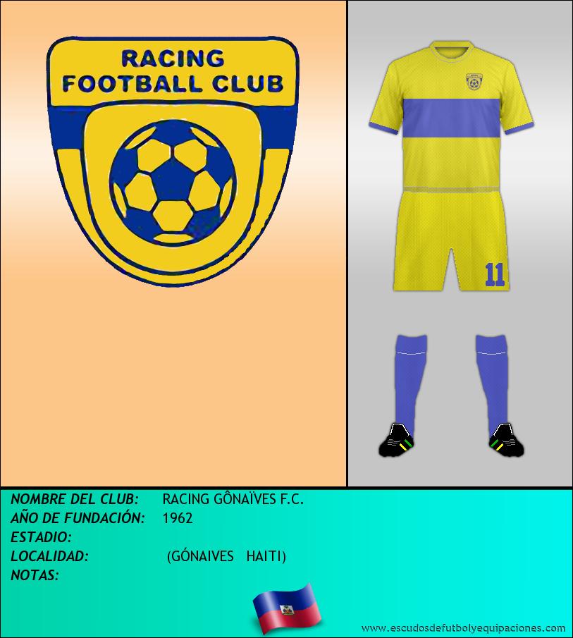 Escudo de RACING GÔNAÏVES F.C.