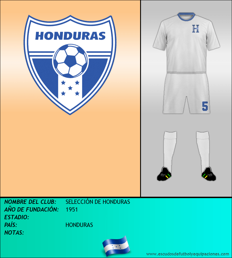 Escudo de SELECCIÓN DE HONDURAS