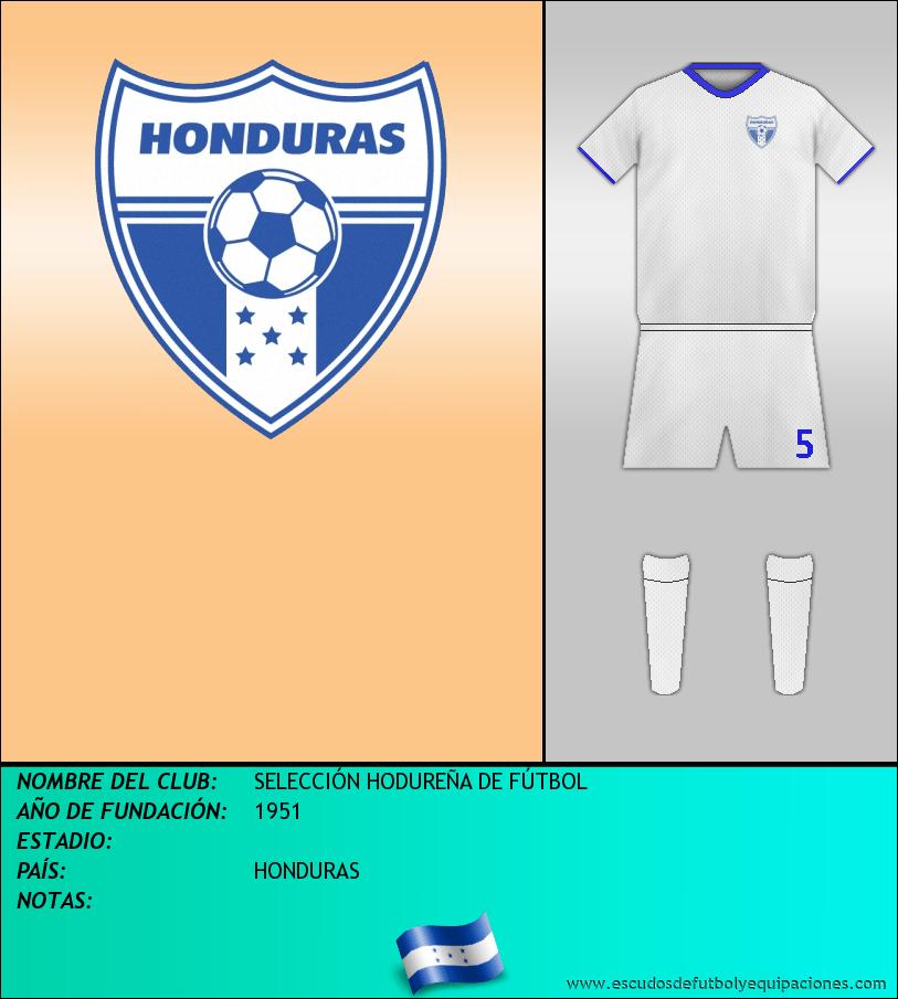 Escudo de SELECCIÓN HODUREÑA DE FÚTBOL