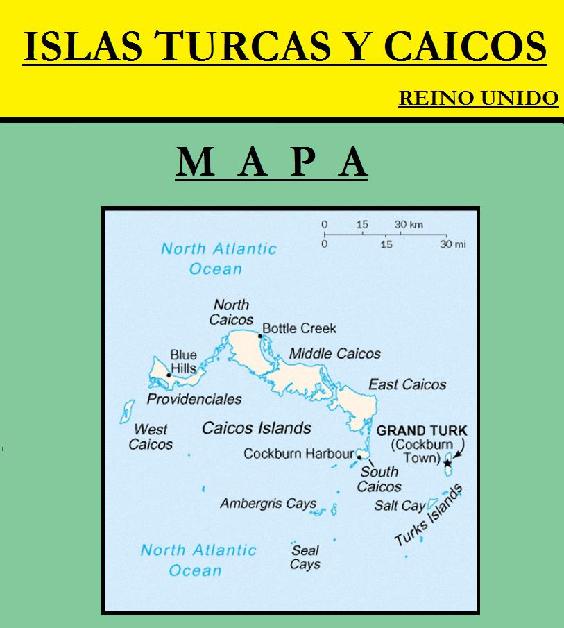 Escudo de MAPA DE ISLAS TURCAS Y CAICOS