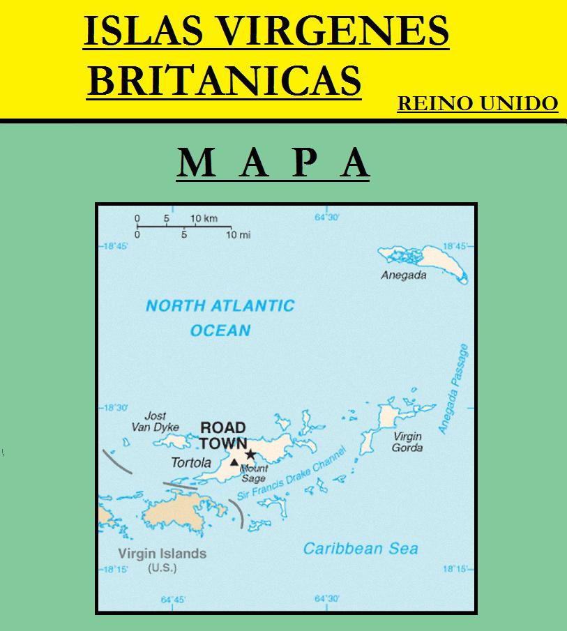 Escudo de MAPA DE ISLAS VÍRGENES BRITÁNICAS