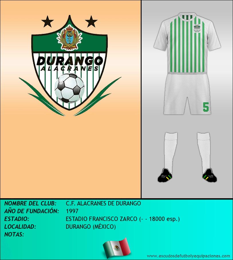 Escudo de C.F. ALACRANES DE DURANGO