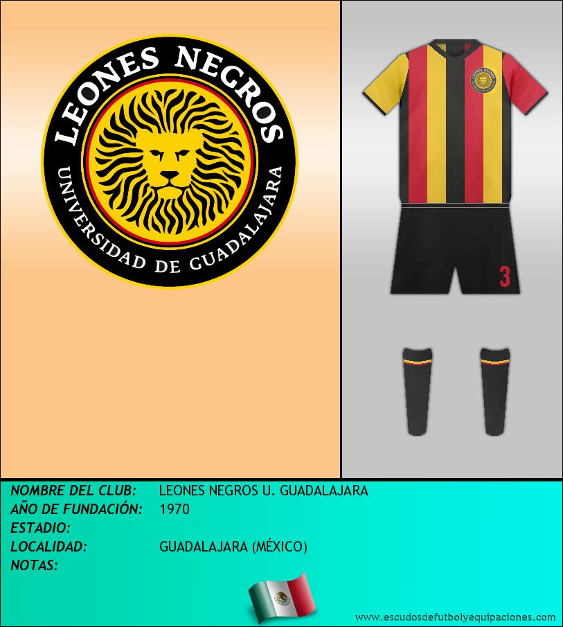 Escudo de LEONES NEGROS U. GUADALAJARA