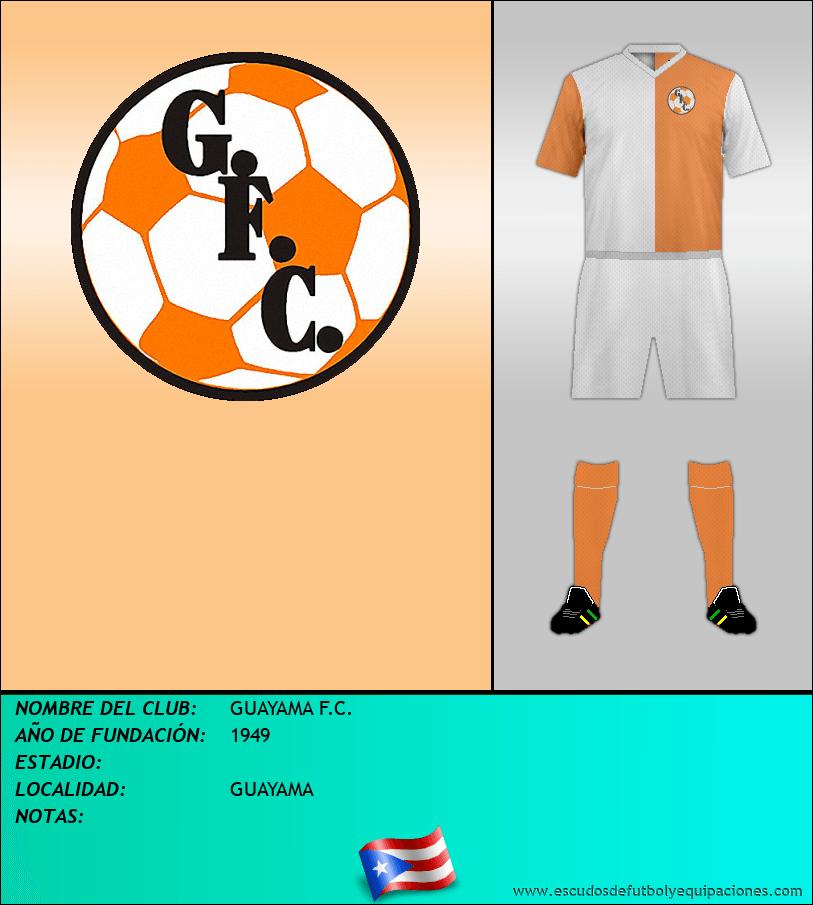 Escudo de GUAYAMA F.C.