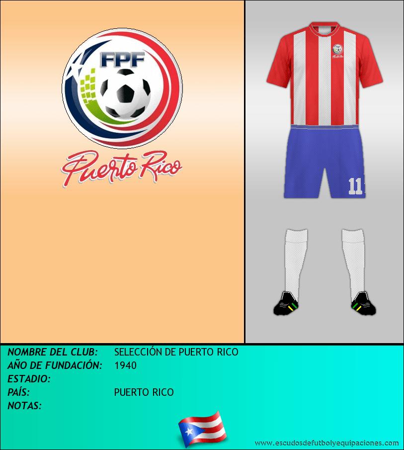 Escudo de SELECCIÓN DE PUERTO RICO