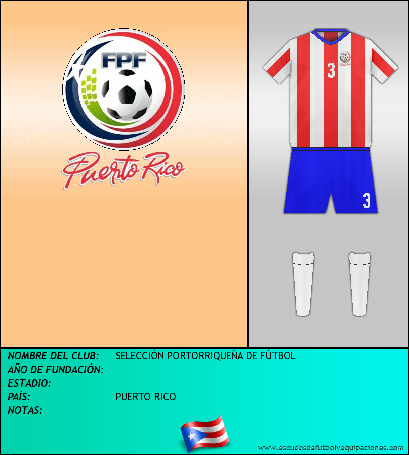 Escudo de SELECCIÓN PORTORRIQUEÑA DE FÚTBOL