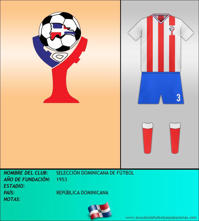 Escudo de SELECCIÓN DOMINICANA DE FÚTBOL