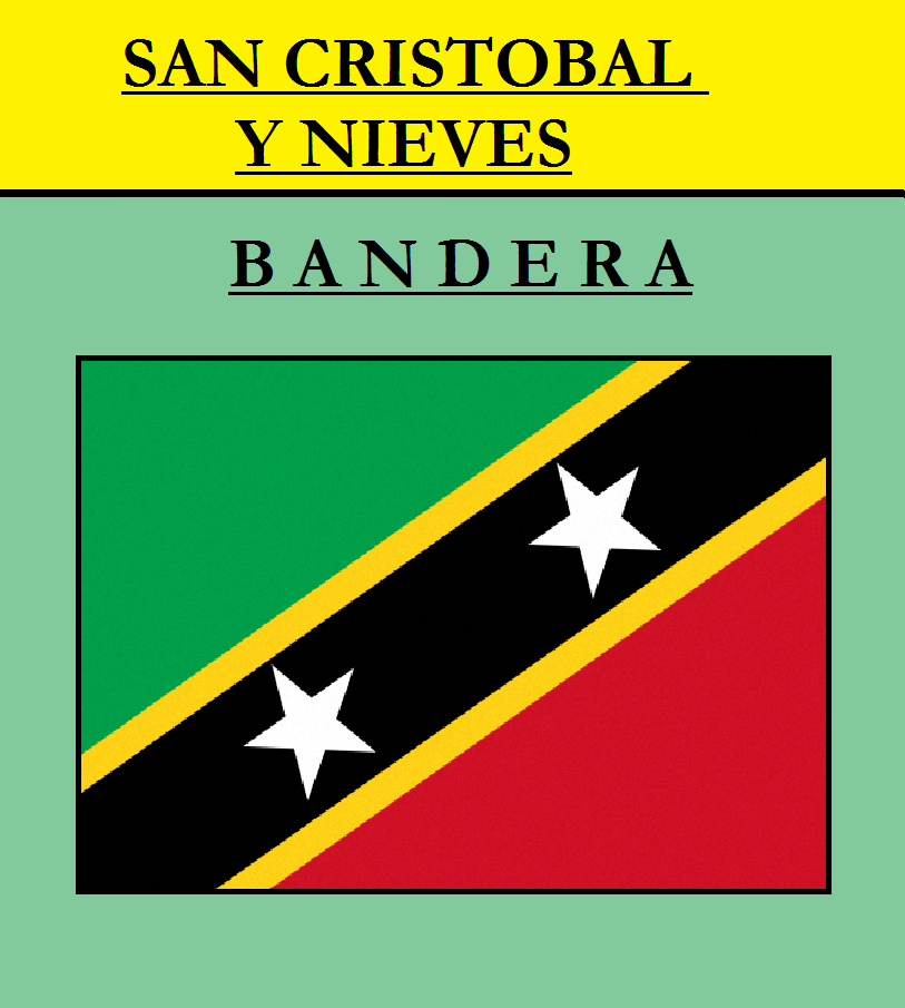 Escudo de BANDERA DE SAN CRISTOBAL Y NIEVES