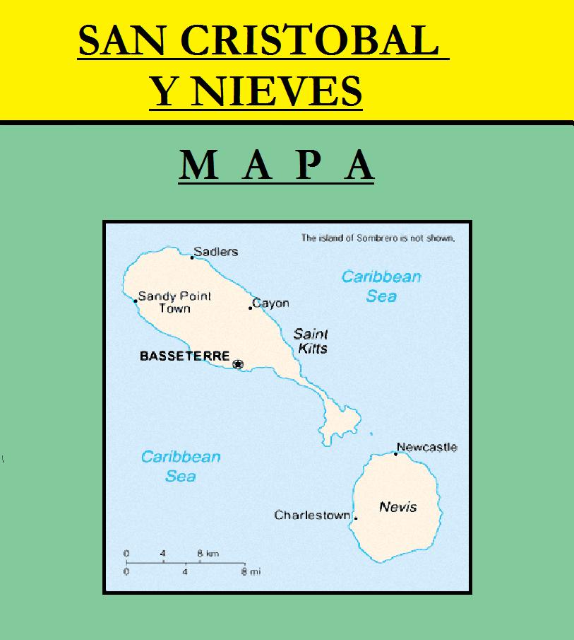 Escudo de MAPA DE SAN CRISTOBAL Y NIEVES