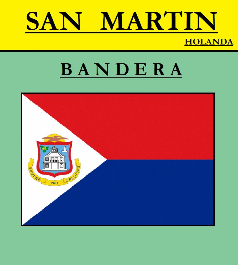Escudo de BANDERA DE SAN MARTÍN (HOLANDA)