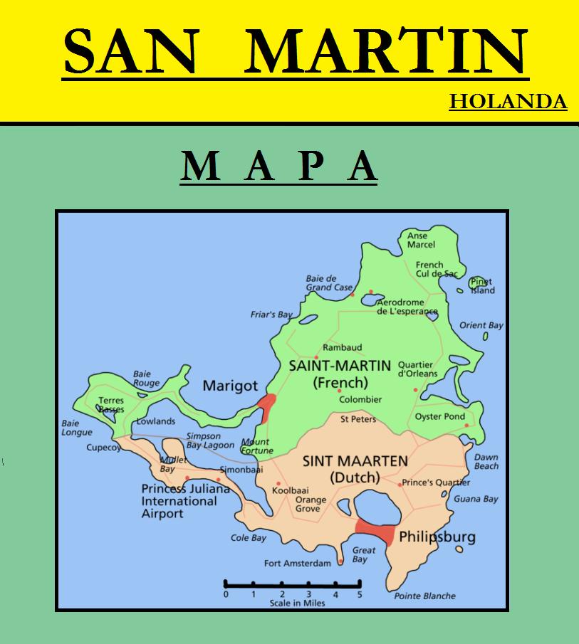 Escudo de MAPA DE SAN MARTÍN (HOLANDA)