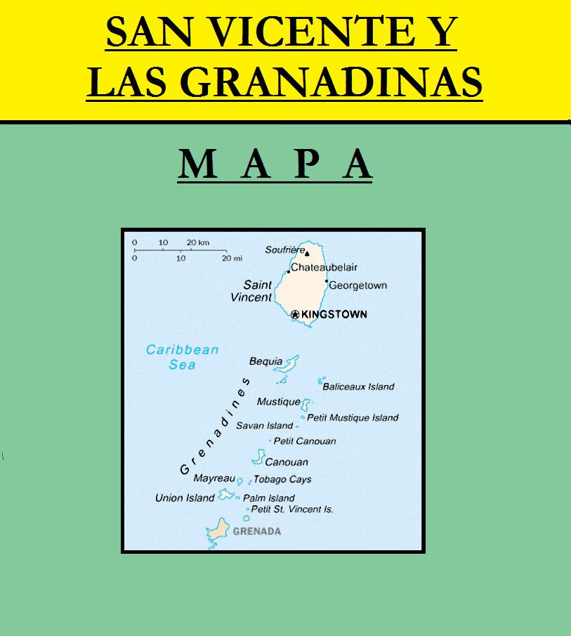 Escudo de MAPA DE SAN VICENTE Y LAS GRANADINAS