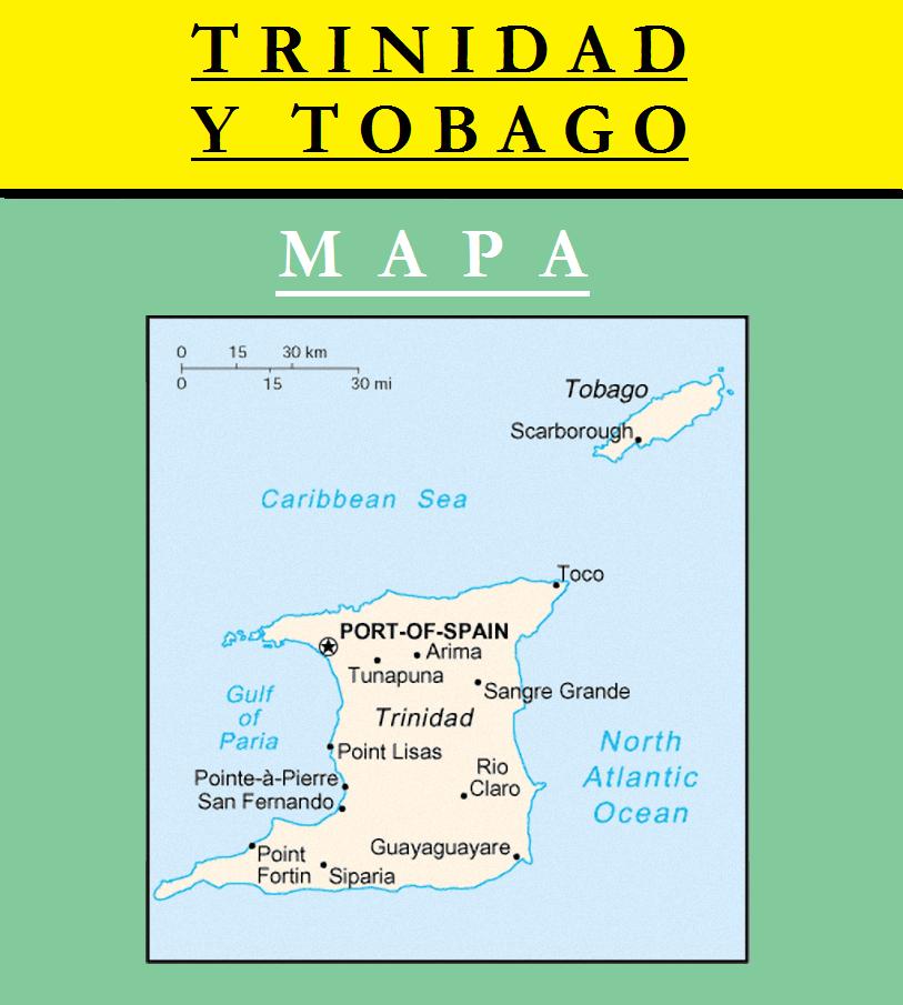 Escudo de MAPA DE TRINIDAD Y TOBAGO